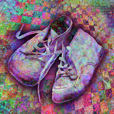 Digital Art - Baby Shoes by Barbara Berney