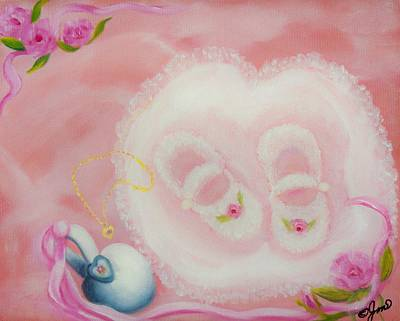 Painting - Baby Shoes by Joni McPherson