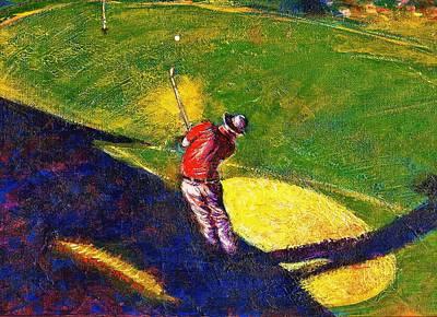 Arizona Golfer Painting - Babyboomer Golfing by Ion vincent DAnu