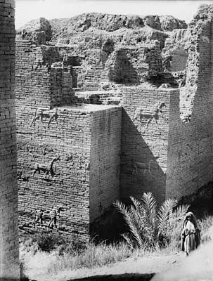 Babylon, The Ishtar Gate, Iraq, Circa Art Print by Everett