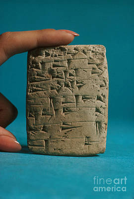 Babylonian Photograph - Babylonian Clay Tablet by Science Source