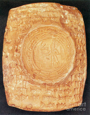 Clay Relief Photograph - Babylonian Tablet by Photo Researchers