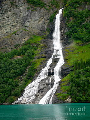 Photograph - Bachelor Falls Across From Seven Sisters Falls by Phyllis Kaltenbach