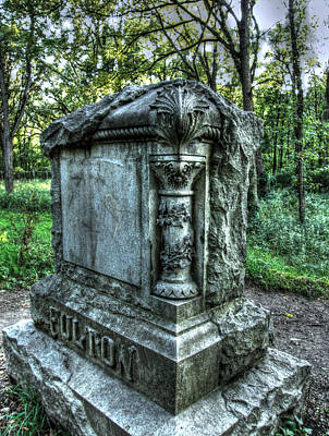 Haunted Places Photograph - Bachelors Grove Fulton Tomb by Jackie Novak