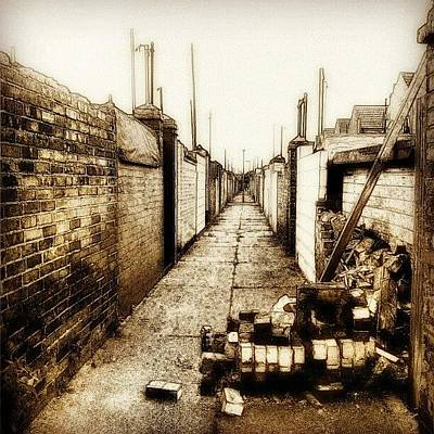 Norfolk Wall Art - Photograph - Back Alley #wall #bricks #alley #sky by Invisible Man