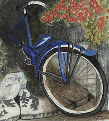 Back Door At Brick Street Cafe Art Print by Joan Zepf