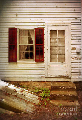 Back Door Of Old Farmhouse Art Print by Jill Battaglia