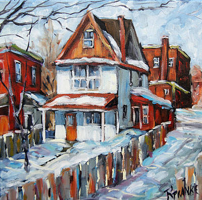 Walter Pranke Painting - Back Lanes Montreal By Prankearts by Richard T Pranke