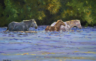 Painting - Back Lit Crossing by Karen McLain