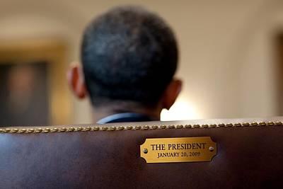 Back Of President Barack Obamas Head Art Print by Everett