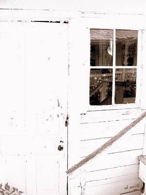 Back Porch Reflections Art Print by Ed Smith