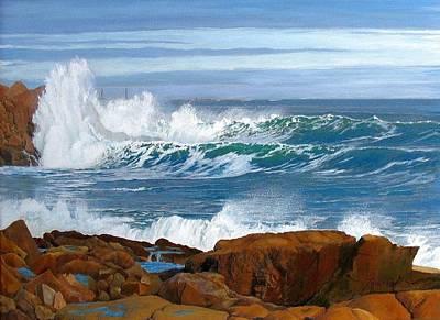 Tall Ships. Marine Art Painting - Back Shore by Phil Cusumano