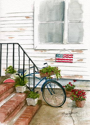 Art Print featuring the painting Back Step by Nancy Patterson