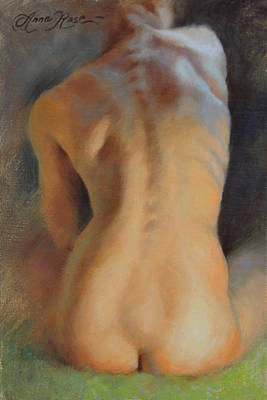 Spine Painting - Back Study In Warm And Cool by Anna Rose Bain
