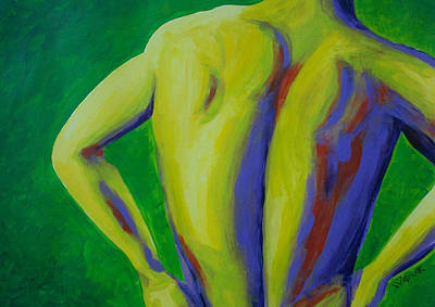 Backbone Painting - Back Up Man by Randall Weidner