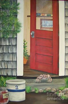 Backdoor Visitors Three  Art Print by Lin Ruch
