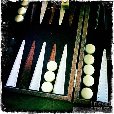 Art Print featuring the photograph Backgammon Anyone by Nina Prommer