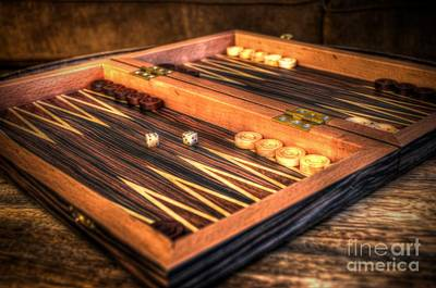 Backgammon Photograph - Backgammon Board by Michael Garyet