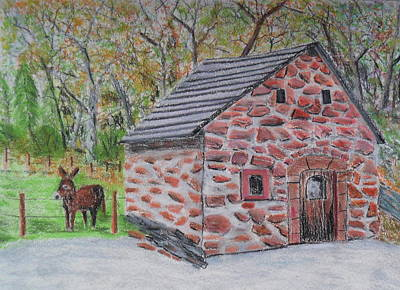 Drawing - Backhaus by Brian Hustead