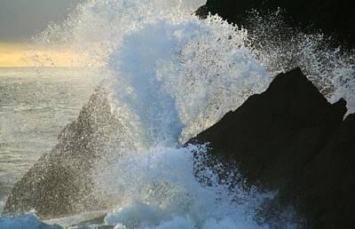 Backlit Wave 2 Art Print