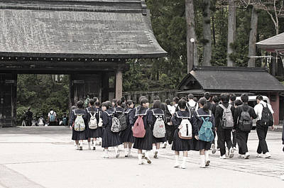 Japanese School Photograph - Backpacks by David Rucker
