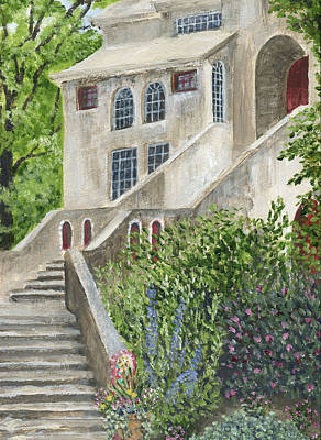 Backsteps At Fonthill Art Print
