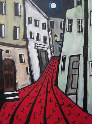 Art Print featuring the painting Backstreets by Cheryl Pettigrew