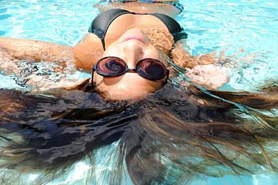 Floating Girl Photograph - Backstroke II  by Leah Silberman