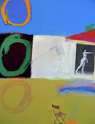 Painting - Backyard-1 Voyeur  -m-  by Cliff Spohn