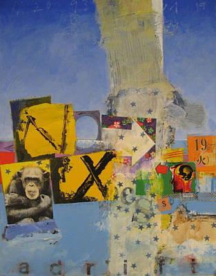 Painting - Backyard-5  Adrift  -m- by Cliff Spohn