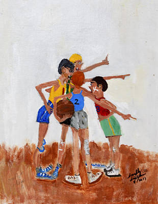 Painting - Backyard Basketball by Swabby Soileau