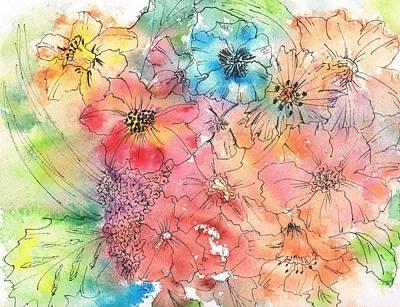 Backyard Garden Art Print by Christine Crawford