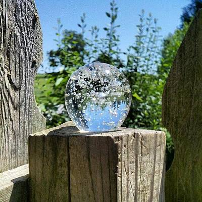 Magician Photograph - Backyard Magic #crystalball #magic by Melissa Wyatt