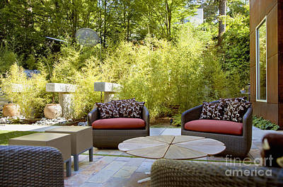 Backyard Patio Area Art Print by Inti St. Clair