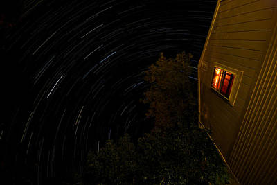 Backyard Star Trails Art Print by Mike Horvath