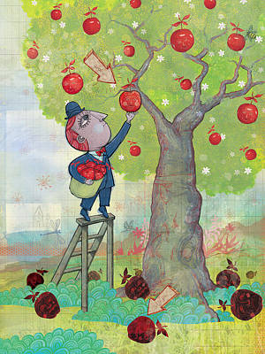 Digital Art - Bad Apples Good Apples by Dennis Wunsch