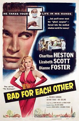 Bad For Each Other, Charlton Heston Art Print by Everett