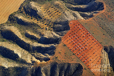 Aerial Photograph - Bad Lands by Guido Montanes Castillo