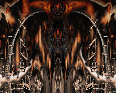 Print featuring the digital art Bad Ride by Steve Sperry