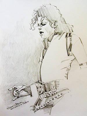 Michael Jackson Painting - Bad Sketch 01 by Hitomi Osanai