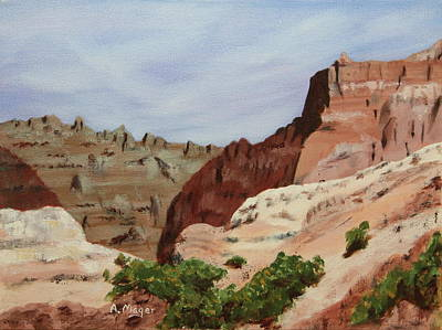 Painting - Badlands I by Alan Mager