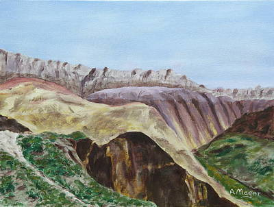 Painting - Badlands II by Alan Mager