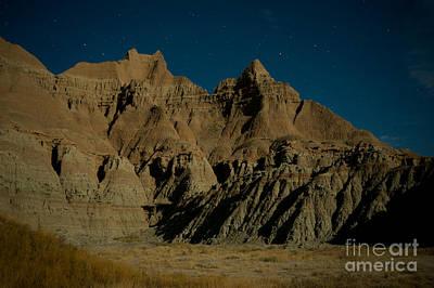 Badlands Moonlight Print by Chris Brewington Photography LLC