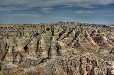 Badlands Art Print by Photo by Mike Kline (notkalvin)