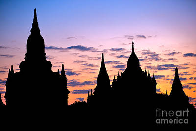 Art Print featuring the photograph Bagan by Luciano Mortula
