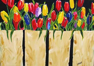 Bagged Tulips Art Print by Ron LaRue