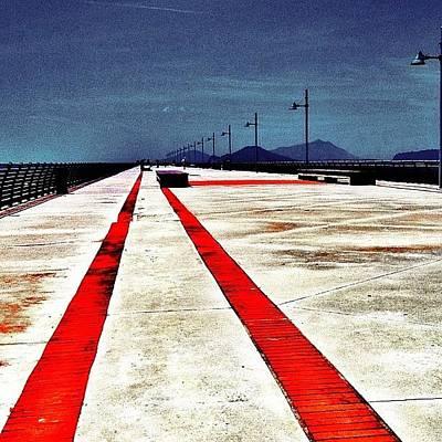 Bagnoli Pier Napoli Italia 2012 Art Print