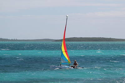 Photograph - Bahamas Sailing by RobLew Photography
