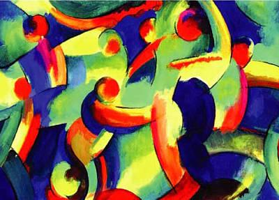 Baile Del Universo Art Print by John Crespo Estrella
