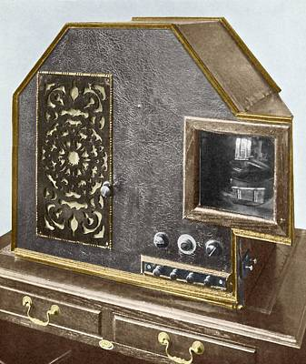 Tv Commercials Photograph - Baird Televisor, Early Television Set by Sheila Terry